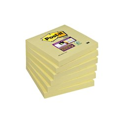 Memoblok 3M Post-it 654 Super Sticky 76x76mm geel