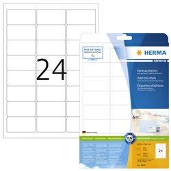 Etiket Herma 4500 A4 63.5x33.9mm premium wit