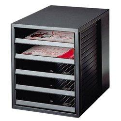 Ladenbox Han 1401 5 laden open zwart