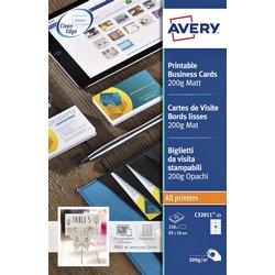 Visitekaart Avery C32011-10 85x54mm 200gr 100 stuks