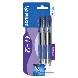 Gelschrijver PILOT G2 blauw 0.32mm blister à 3 stuks