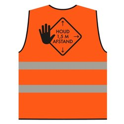 Veiligheidsvest afstand houden XL oranje