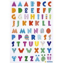 Etiket Herma kleurrijke letters stone