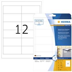 Etiket Herma 4595 97x42.3mm folie wit