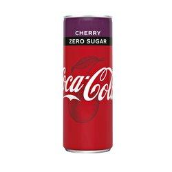 Frisdrank Coca Cola Zero Cherry blikje 0.25l
