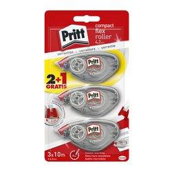 Correctieroller Pritt compact flex 4.2mm x 10m blister 2+1 gratis