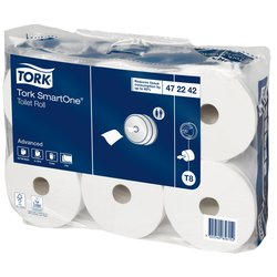 Toiletpapier Tork T8 472242 Advanced 2laags 1150vel 6rollen wit