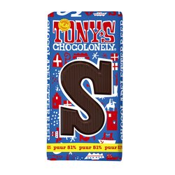 Chocolade Tony's Chocolonely puur S 180gr
