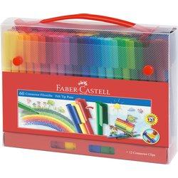 Kleurstift Faber Castell Connector koffer à 60 stuks assorti