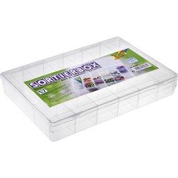 Sorteerbox Folia 17 vakken 180x265x40mm transparant