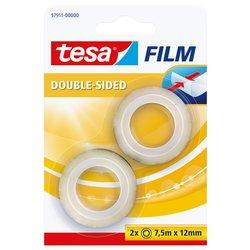 Plakband Tesa 57911 dubbelzijdig 12mmx7,5m 2 rollen
