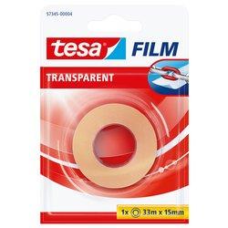 Plakband Tesa film 15mmx33m transparant blister