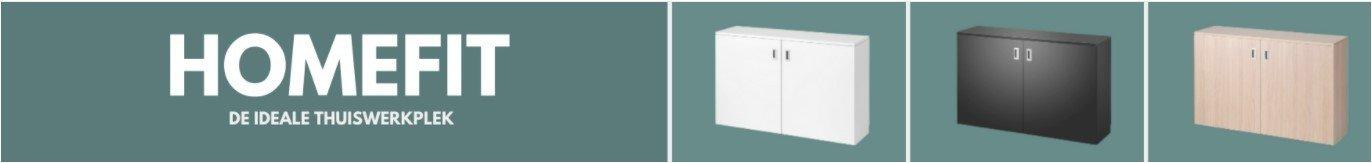 HomeFit - Een ergonomisch zit-/sta-bureau opgeborgen in een kastje!