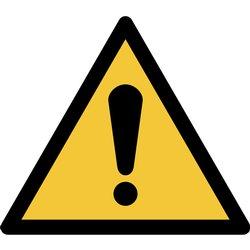 Pictogram Tarifold algemene waarschuwing 200x176mm