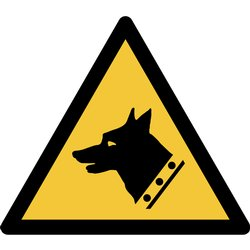 Pictogram Tarifold waarschuwing waakhond 200x176mm