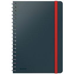 Notitieboek Leitz Cosy B5 lijn spiraal grijs