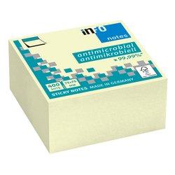 Memoblok Info Notes 75x75mm geel, 400 vel