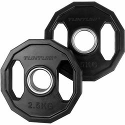 Tunturi Olympische Halterschijven Ø50MM Rubber 2 X 2,50KG