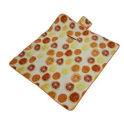 Picknickdeken opvouwbaar citroen/ sinaasappel