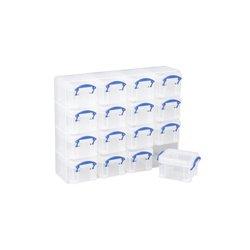 Opbergbox Really Useful 16x 0.14 liter 280x224x65 mm transparant wit