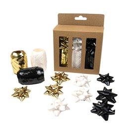 Krullint en strikken Design Group, goud, zwart en wit assorti