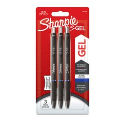 Gelschrijver Sharpie 0,7mm blauw blister à 3 stuks