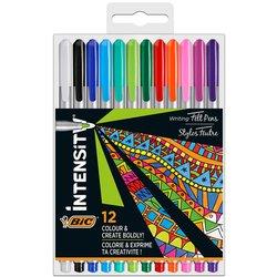 Fineliner Bic Intensity 0,7mm etui à 12 kleuren