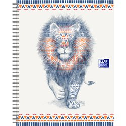 Spiraalblok Oxford Boho Chic A4+ lijn 60vel leeuw
