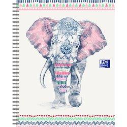 Spiraalblok Oxford Boho Chic A4+ lijn 60vel olifant
