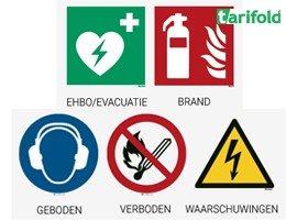 Tarifold Veiligheidspictogrammen