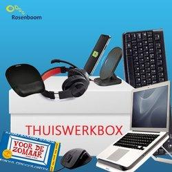 Thuiswerkbox Actiepakket van € 111.87 voor slechts € 89.50 plus gratis Tony Chocolonely