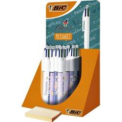 Balpen BIC 4 kleuren Message