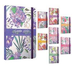 Notitieboek Gipta Garden Notes A5 lijn 8 assorti designs