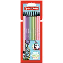 Viltstift STABILO Pen 68 etui à 8 kleuren