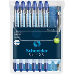 Rollerpen Schneider Slider Basic XB blauw met 1 balpen Rave gratis