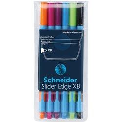 Balpen Schneider Slider Edge XB etui à 6 kleuren