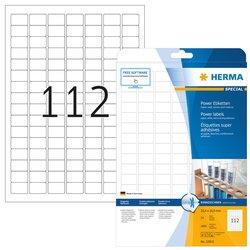 Power-etiketten, Herma 10916 sterk hechtend, A4, 25,4 x 16,9 mm, wit, van papier 2800 etiketten / 25 vel