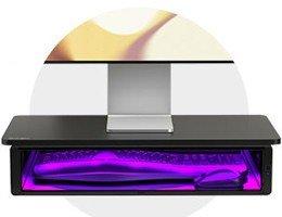 Monitorstandaard met UV reinigingscompartiment